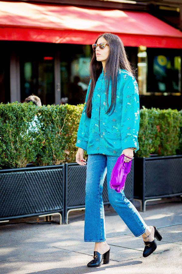 kimono bell bottom jeans