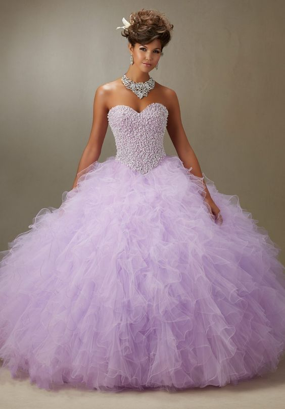 lavender quinceanera dress sparkly