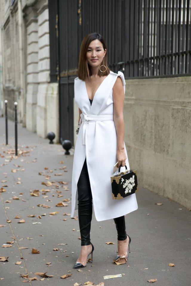 leggings to work white coat