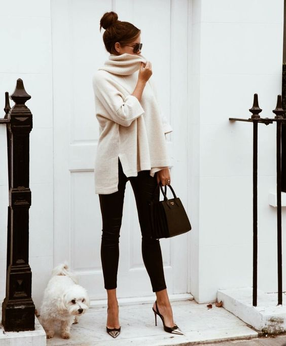 leggings to work beige tunic