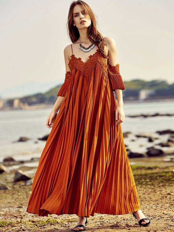 maxi off the shoulder dress
