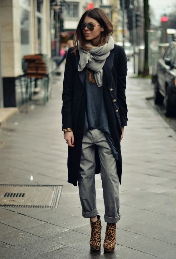 military coat grey chinos