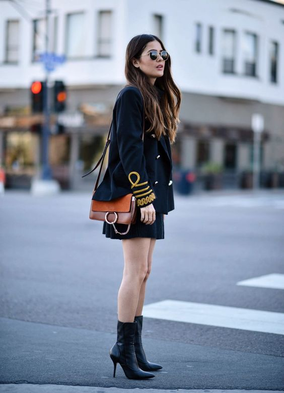 military jacket mini skirt