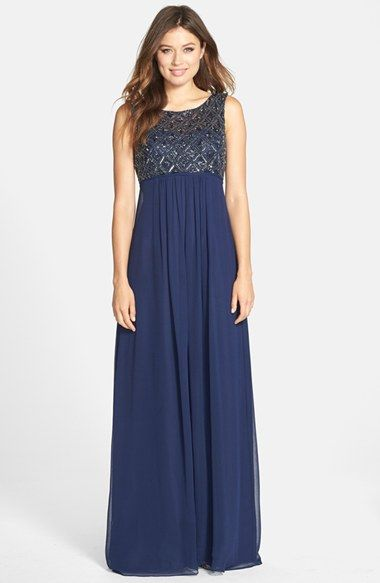 navy blue empire waist dress