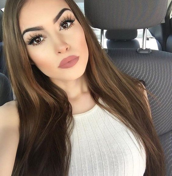 nude matte lipstick mascara