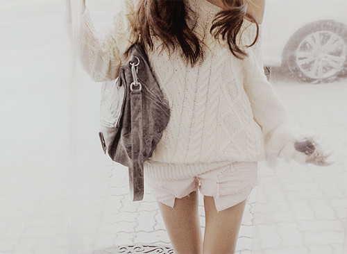 one shoulder cable knit sweater white denim shorts