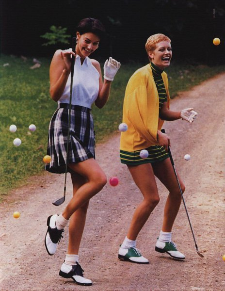 sleeveless shirt high waisted plaid golf skirt