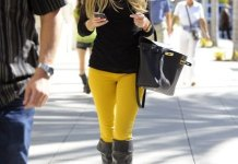 how to style yellow jeans