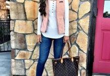 fleece vest outfit ideas