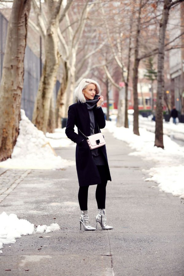 e4a398cd50b How to Style Silver Ankle Boots  15 Amazing Outfit Ideas - FMag.com