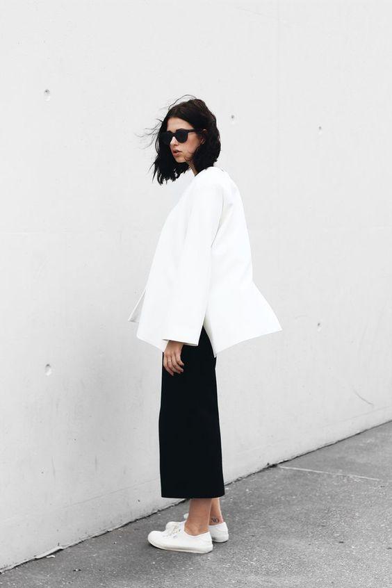 black culottes minimalistic