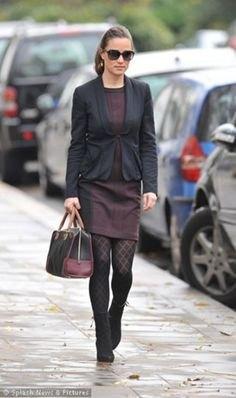 black dress blazer leggings
