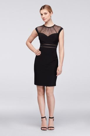 black dress sheer collar