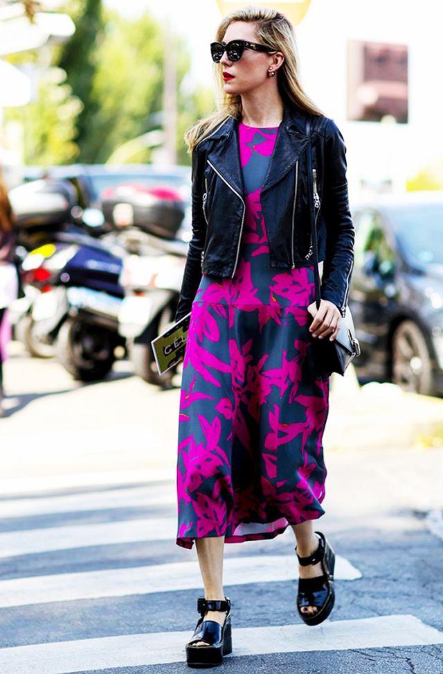 black leather moto jacket pink