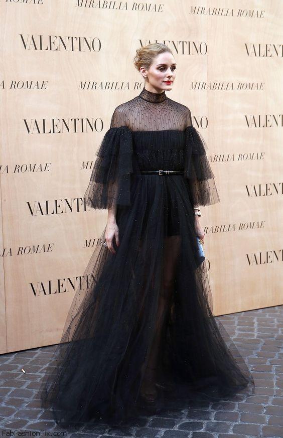black ruffle dress gown