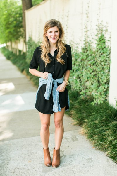 15 Best Outfit Ideas On How To Wear Black Shirt Dress Fmag Com