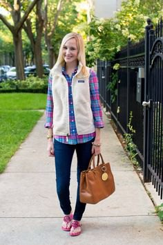 blue and white plaid boyfriend shirt
