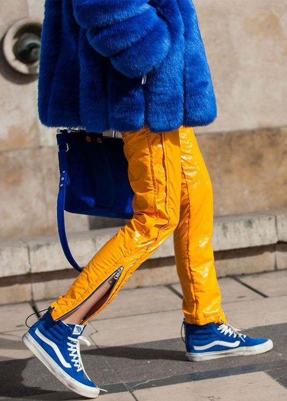 How To Wear Blue And Yellow Together Top Outfit Ideas - FMag.com