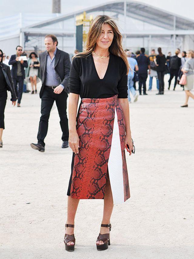choker classy snakeskin skirt