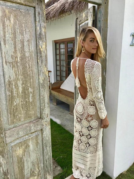 crochet dress boho