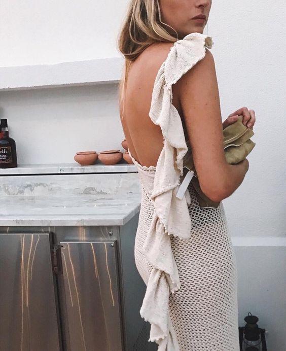 crochet dress eggshell