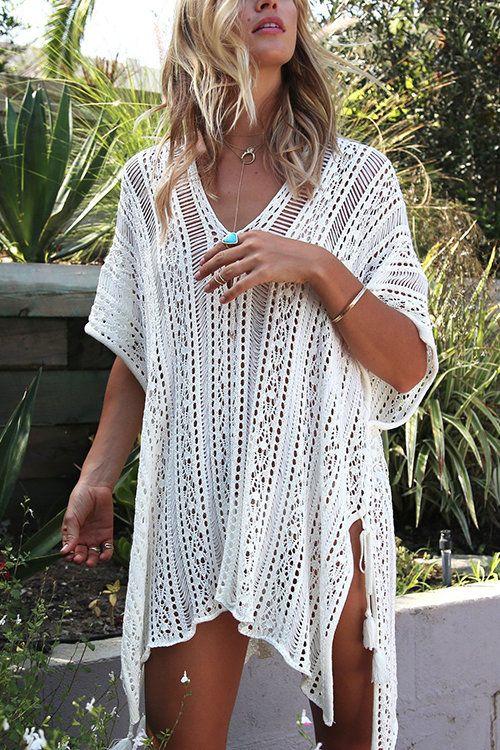 crochet dress tunic