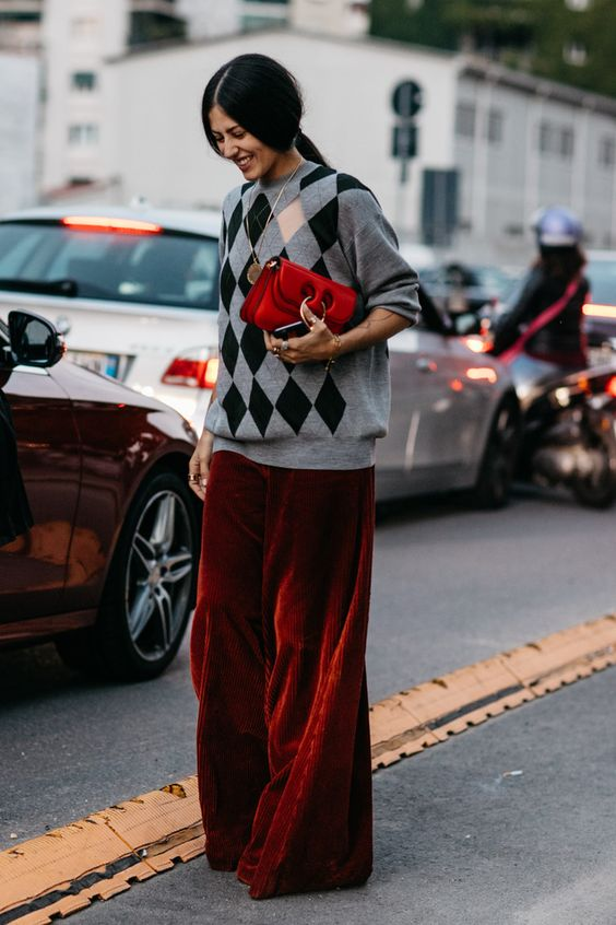 dark velvet pants sweater