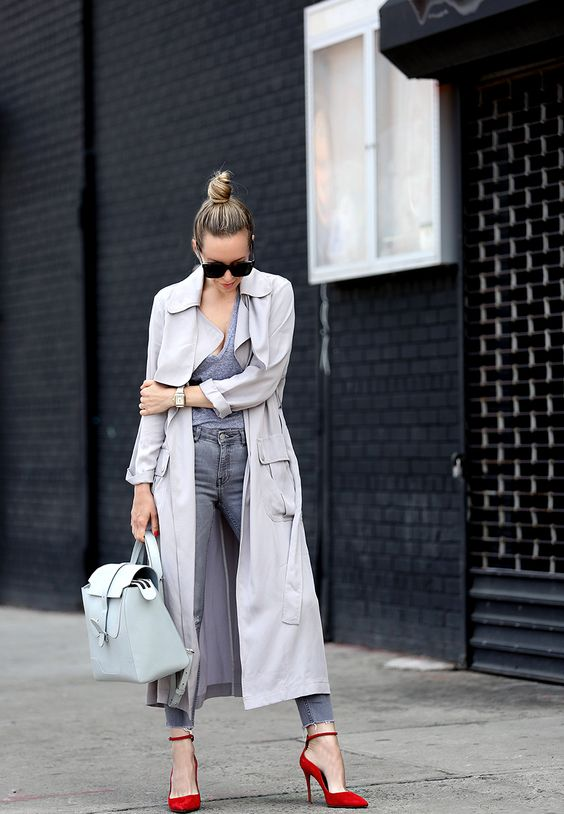 duster jacket all grey
