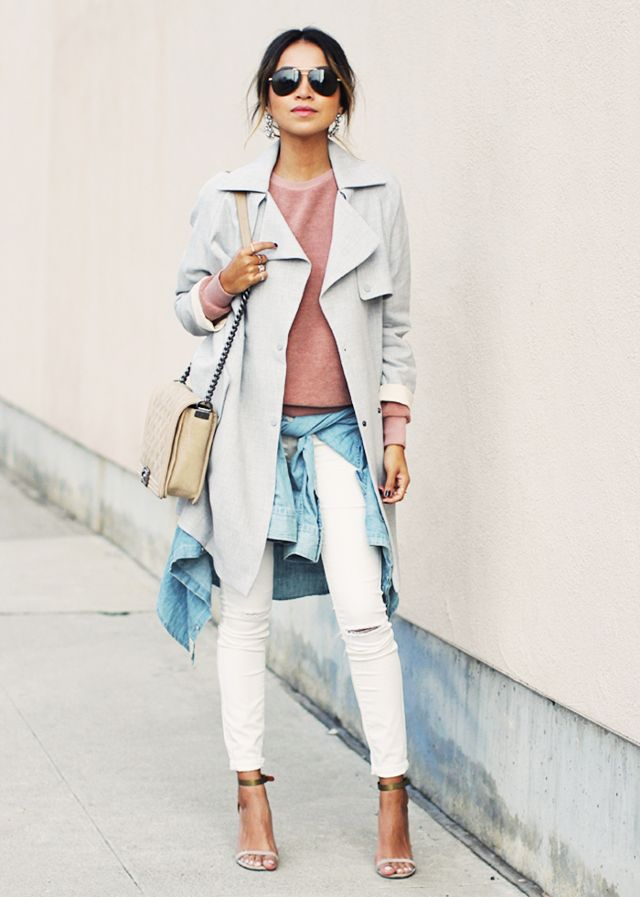 duster jacket blush pink