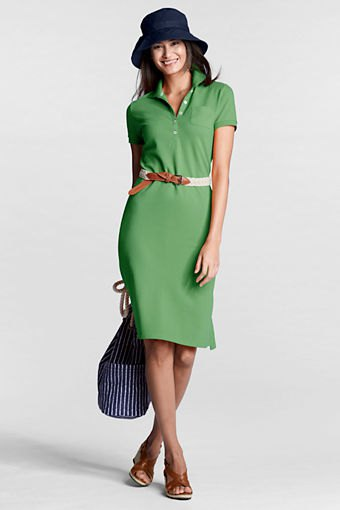 forest green tie waist polo shirt dress felt hat