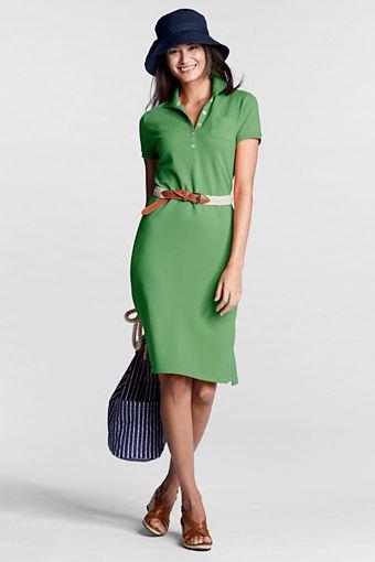 forest green tie waist polo shirt dress felt hat