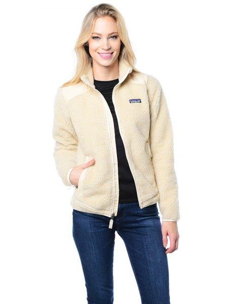 ivory fleece jacket skinny jeans