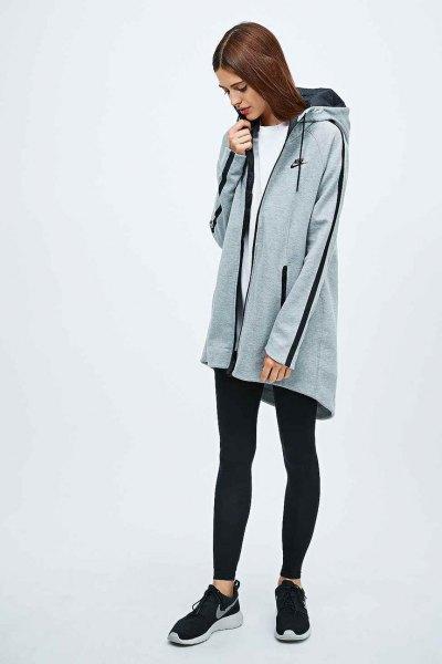 long sports fleece jacket
