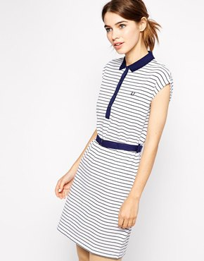 navy and white polo dress