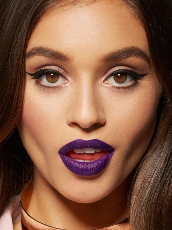 purple lipstick dark skin