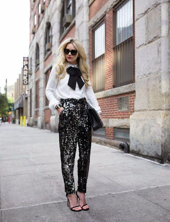sequin leggings black vintage