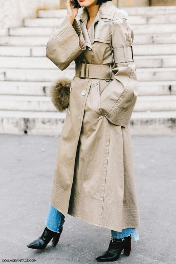 trench coat oversized long bell sleeves