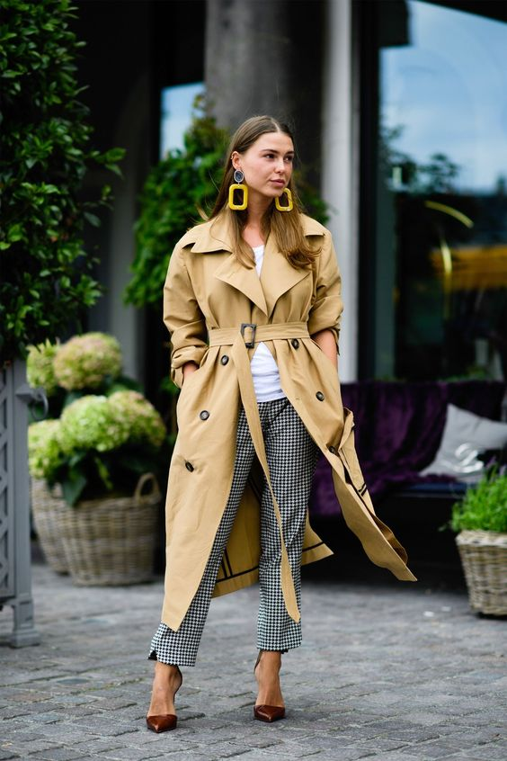 trench coat oversized mustard