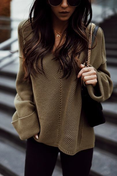 v neck sweater brown and black