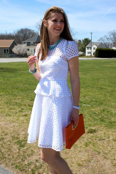 white breezy dress outfit