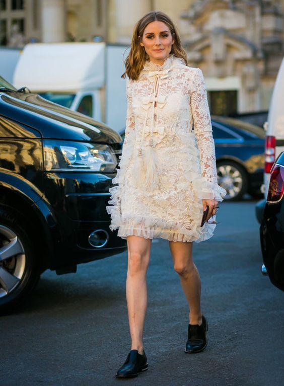 white chiffon dress lace