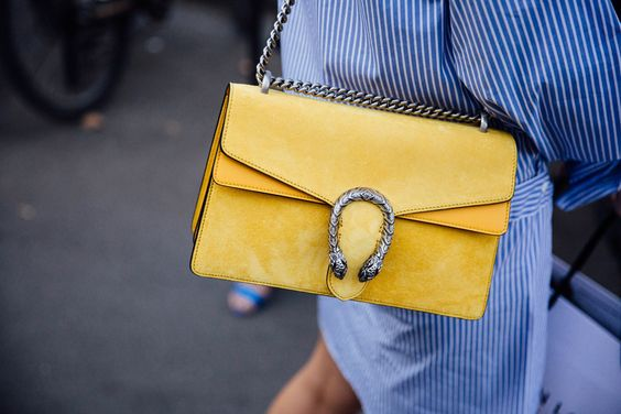 yellow blue outfit bag gucci