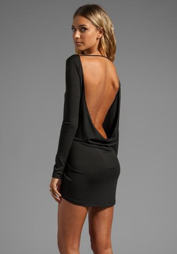 backless mini dress flowy back design