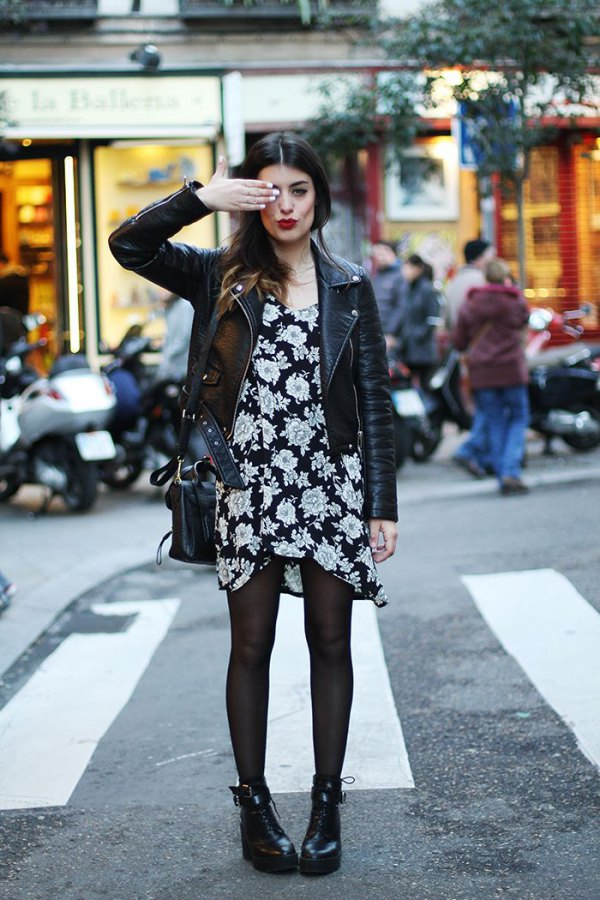 best black floral dress outfits