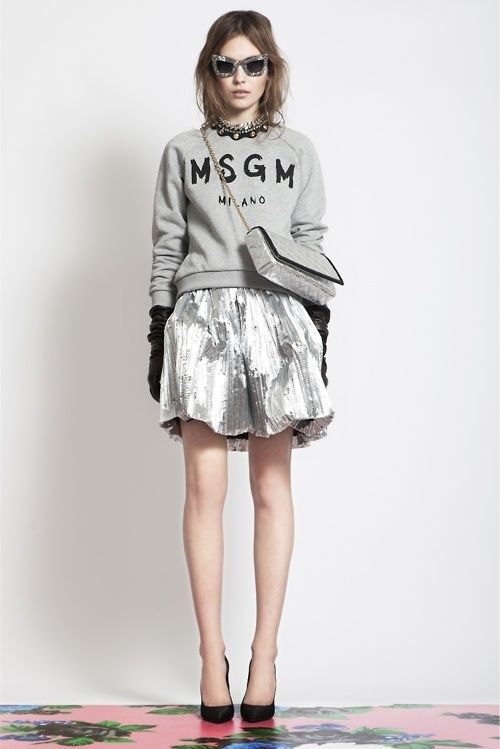 best metallic skirt outfits