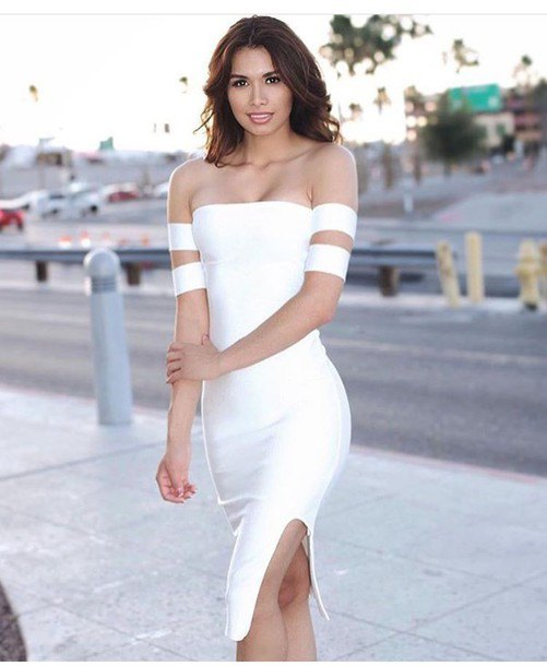 e456c6dce7d2 How to Wear White Bodycon Dress  Top 15 Outfit Ideas - FMag.com