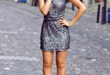 how to wear silver sequin dress