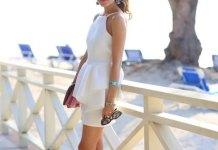 best white peplum dress outfits