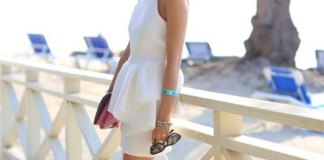 best white peplum dress outfits