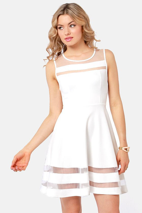 best white mesh dress outfits